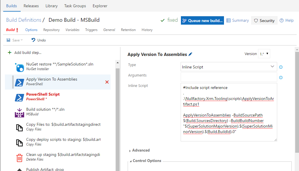 Apply Assembly Version PowerShell
