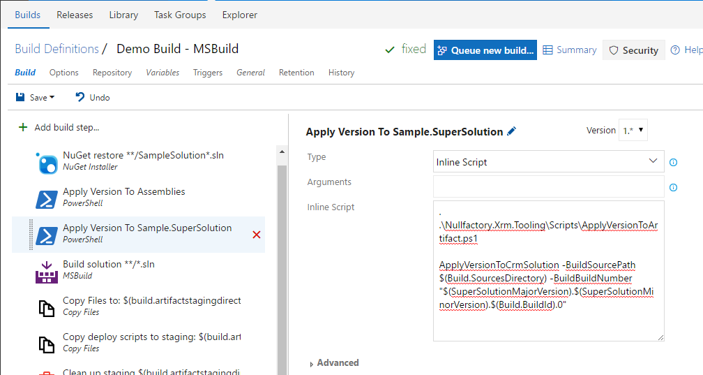 Apply Crm Solution Version PowerShell