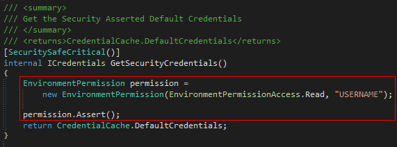 GetSecurityCredential Method
